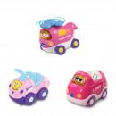Tut Tut Baby Flitzer - Set 14 (Hubschrauber pink, Quad pink, Cabrio pink)
