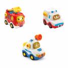 3er Set Einsatzfahrzeuge (Feuerwehrauto, Rettungswagen, Polizei) - Tut Tut Baby Flitzer